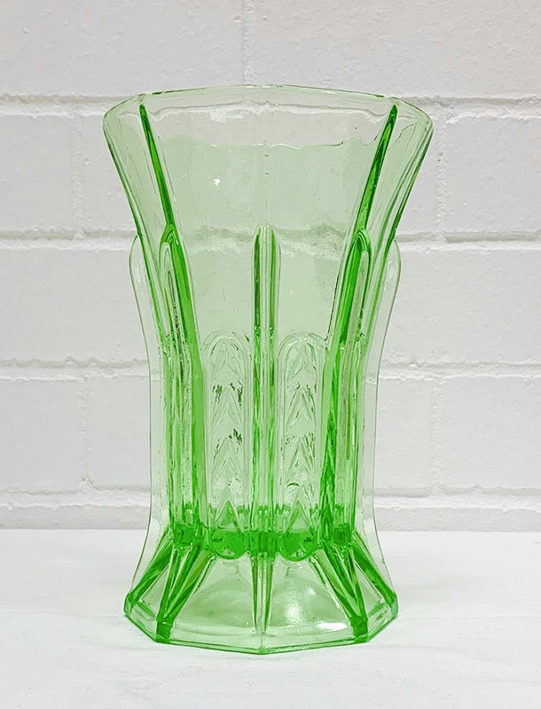 Depression Glass. Various colours such as green, pink, blue, amber. Also jugs, vases, bowls and glasses. Australian, English and American manufacture.