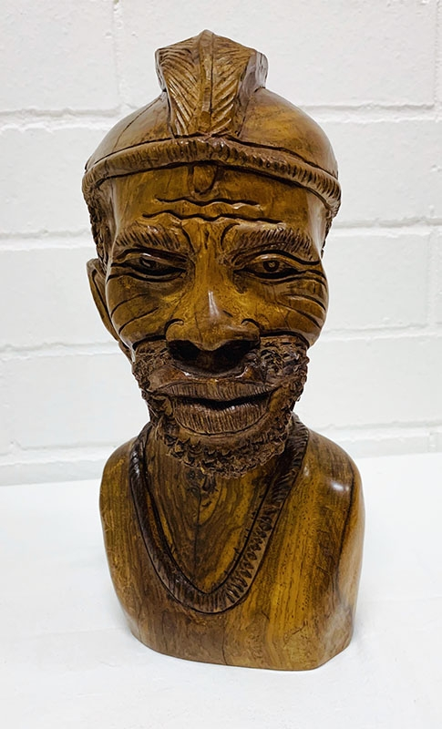 African wooden sculpture. Pieces of ebony, and masks, bowls, busts, figurines, carved, serving bowls, salad bowls.